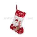Christmas red and white socks Fabric Cotton 42L*36W*44Hcm