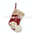 Christmas stocking Linen cotton 36L*26W*44Hcm
