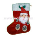 Three-dimensional Santa Claus socks Velvet