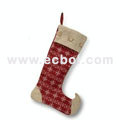 Barreled Christmas stockings Linen cotton 47L*36W*49Hcm