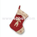 Christmas stocking Linen cotton Christmas party props 48L*33W*23Hcm