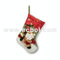 Three-dimensional snowman Christmas Stocking nylon cotton 30L*32W*37Hcm