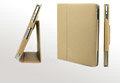 iPad Case Genuine leather No lines Hand-built - Khaki