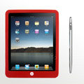 iPad tablet Silicone Case - Red