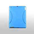 iPad 2 / The New iPad case Crescent Silicone Case Seismic drop resistance - Blue