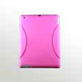 iPad 2 / The New iPad case Crescent Silicone Case Seismic drop resistance - Pink