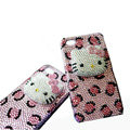 Three-dimensional Hello Kitty Pink Leopardl diamond iphone 3G case