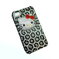 Three-dimensional Leopardl Hello Kitty diamond iphone 3G case - 01