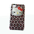 Three-dimensional Leopardl Hello Kitty diamond iphone 3G case - 02