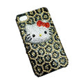 Three-dimensional Leopardl Hello Kitty diamond iphone 3G case
