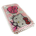 Hello Kitty iphone 3G case crystal bling cover - EB012