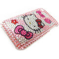 Hello Kitty iphone 3G case crystal bling cover - EB014