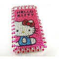Hello Kitty iphone 3G case crystal bling cover - EB016