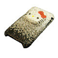Three-dimensional Hello Kitty diamond iphone 3G case - black
