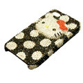Three-dimensional Hello Kitty diamond iphone 3G case - white point
