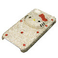 Three-dimensional Hello Kitty diamond iphone 3G case - white