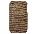 zebra iphone 3G case Glitter bling cover - gold