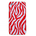 zebra iphone 4G case ceramics smooth cover - red