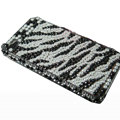 zebra iphone 4G case crystal bling cover - EB003