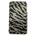zebra iphone 4G case crystal bling cover - EB004