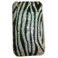 zebra iphone 3G case crystal diamond cover