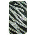 zebra iphone 4G case crystal diamond cover - EB001