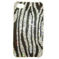 zebra iphone 4G case crystal diamond cover