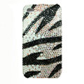 zebra iphone 4G case crystal diamond bling cover