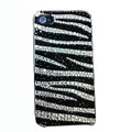 Zebra iphone 4G case crystal bling cover Fringe