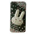 Rabbit Crystal bling case for iphone 4G Transparent shell