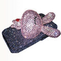 Rabbit Crystal bling case for iphone 4G - pink
