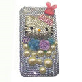 Three-dimensional crystal Hello Kitty iphone 4G case - Light blue