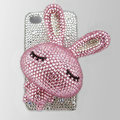 Rabbit bling Crystal case for iphone 3G - Pink rabbit
