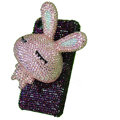 Rabbit bling Crystal case for iphone 3G - light pink