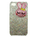 Rabbit Crystal bling case for iphone 3G - white EB004