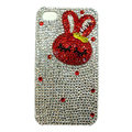 Rabbit Crystal bling case for iphone 4G - red
