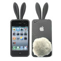 Rabbit ears Silicone case for iphone 4G - grey