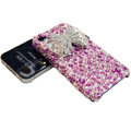 Swarovski crystal bling Butterfly case for iphone 4 - pink