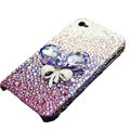 Swarovski crystal bling Flowers case for iphone 4