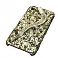 Bling Swarovski Crystal Gecko Case for iphone 4 - black
