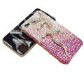 Bling Swarovski Crystal Gecko Case for iphone 4 - pink