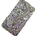 Bling Swarovski Crystal Lizard Case for iphone 4 - purple