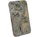 Bling Swarovski crystal Gecko case for iphone 4 - white EB001