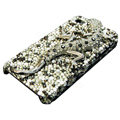 Swarovski Crystal bling Gecko Case for iphone 4 - black