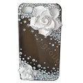 Camellia bling crystal case for iphone 4
