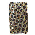 Classic Leopard crystal case for iphone 3g/3gs - brown
