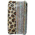 Leopard crystal case for iphone 3g/3gs - brown