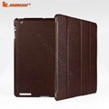 Miraculous magnetic wake smart cover for iPad 2 / The New iPad - PU brown