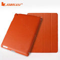 Miraculous magnetic wake smart cover for iPad 2 / The New iPad - PU orange