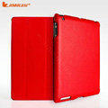 Miraculous magnetic wake smart cover for iPad 2 / The New iPad - PU red